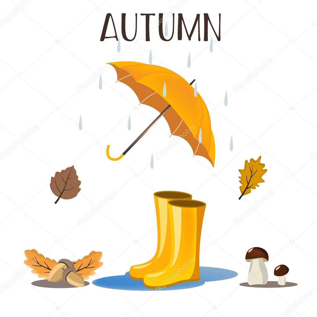 Rain falling leaves.