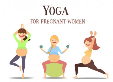 Yoga for pregnant women set .