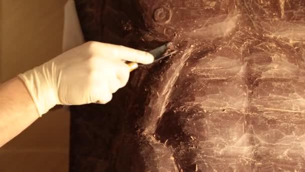 Výroba soch z čokolády