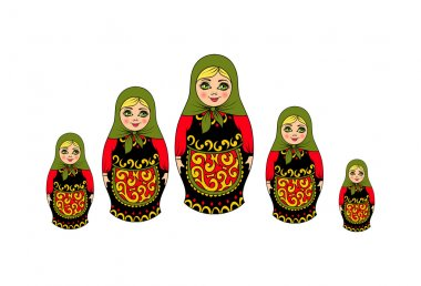 traditional Russian souvenir nesting dolls