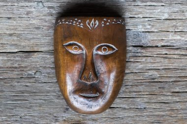Old handmade wooden mask