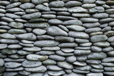 Texture of pebble stone wall