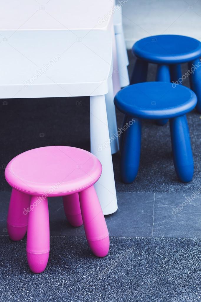 Muebles infantiles multicolor — Fotos de Stock © olegbreslavtsev ...