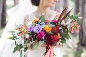 Fotografie Kytice nevěsty hospodářství barevné boho