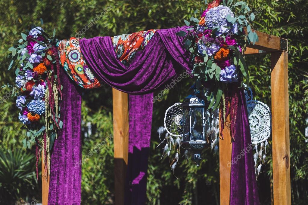 Boho Stil Hochzeit Dekoration Stockfoto C Olegbreslavtsev 117456766