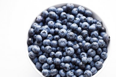Plate of ripe blueberry