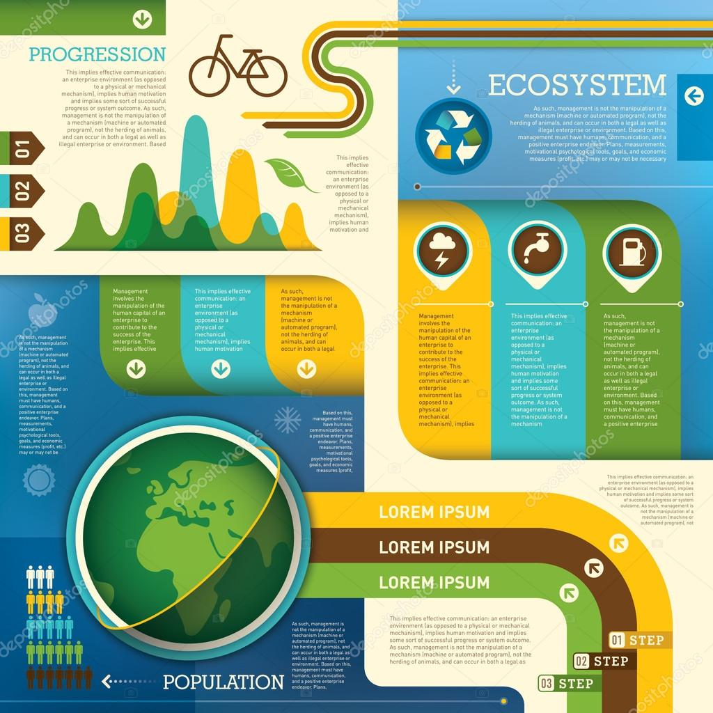 Ecology info graphic design.