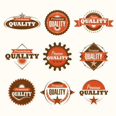 Set of premium quality labels.