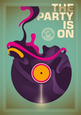 Abstract party poster.
