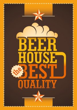 Beer house poster.