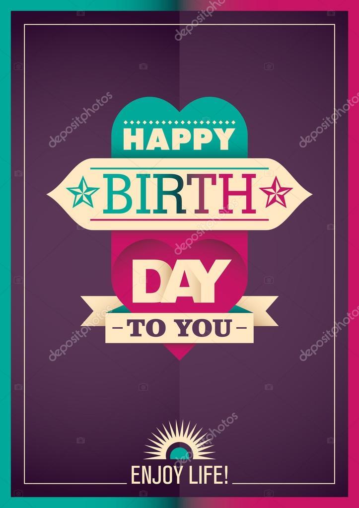 Modern Birthday Card Stock Vector Rakavaja 104671118