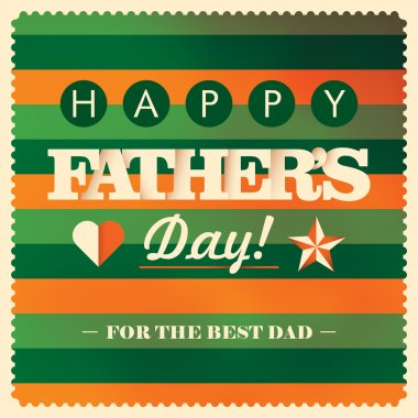Colorful father's day card design. Vector illustration. stock vector