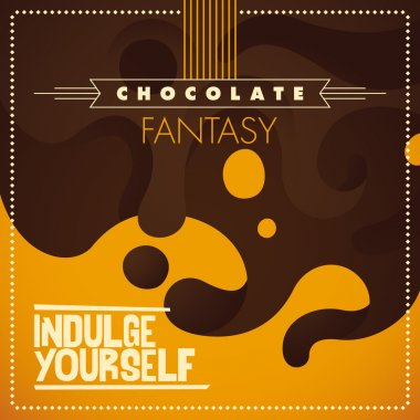Illustrated chocolate background.