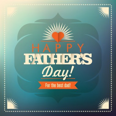 Vintage design of father's day card. Vector illustration. stock vector