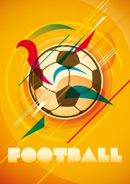 Abstract football poster.
