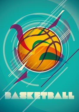 Abstract basketball poster.