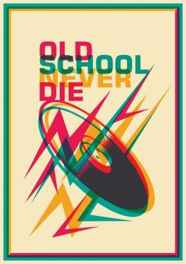 Retro poster with vinyl.