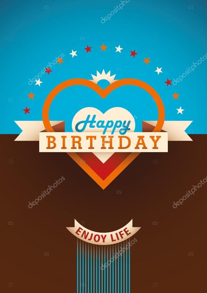 Modern Birthday Card Design Stock Vector Rakavaja 107566562