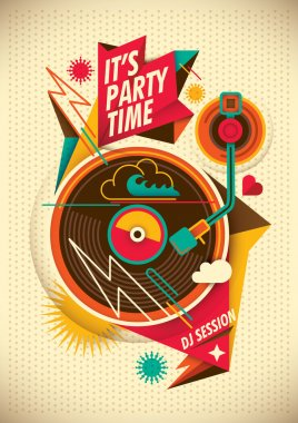 Party poster. Vector illustration. stock vector