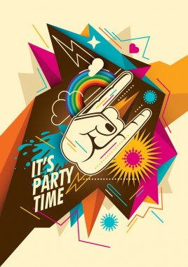 Abstract party background in color.