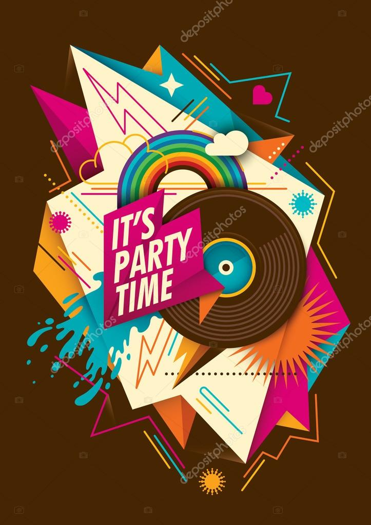 Abstract party background with vinyl.