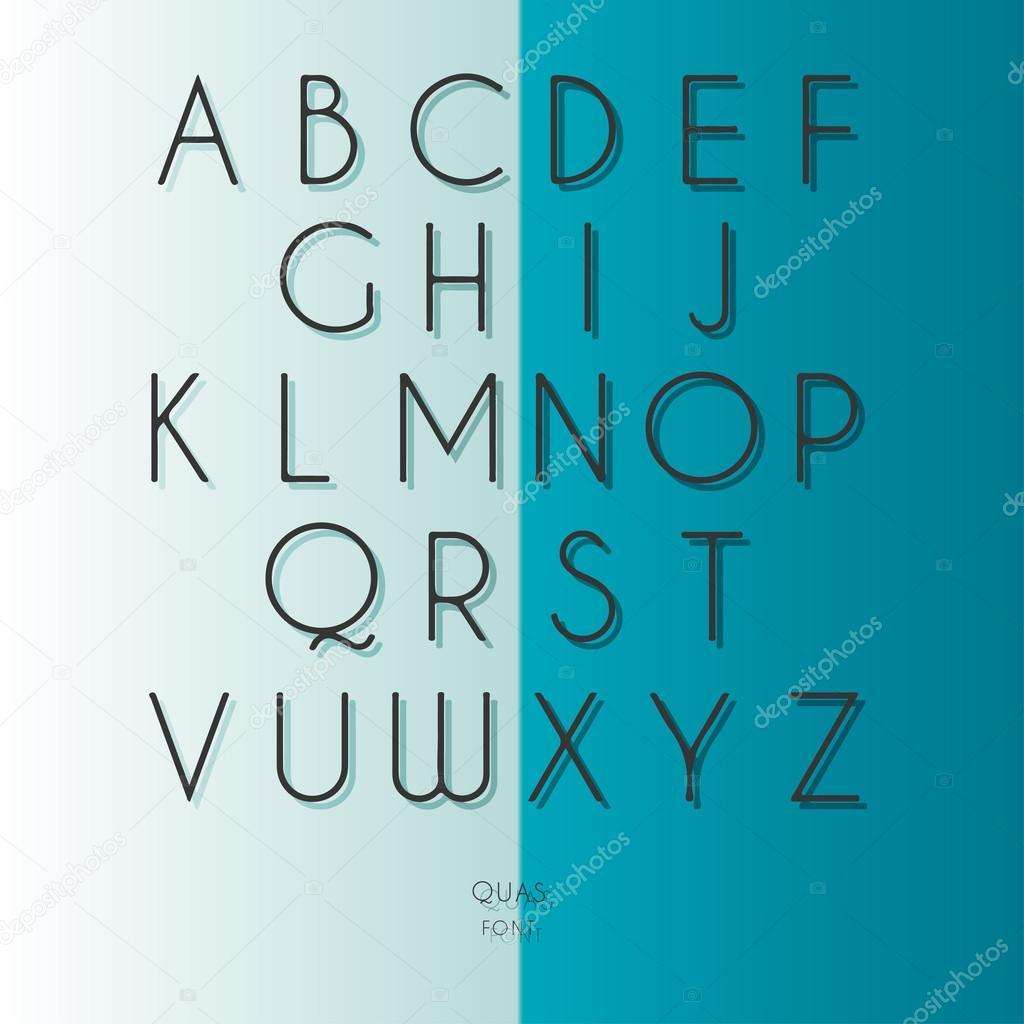Thin Font Futuristic Font Cosmic Font Vector Alphabet