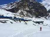 Trekking campo base vicino a Everest, Sagarmatha, Nepal