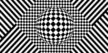 Abstract black and white vector background