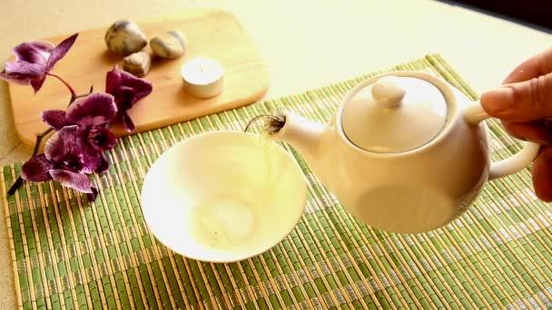 Tea ceremónia. lassú mozgás