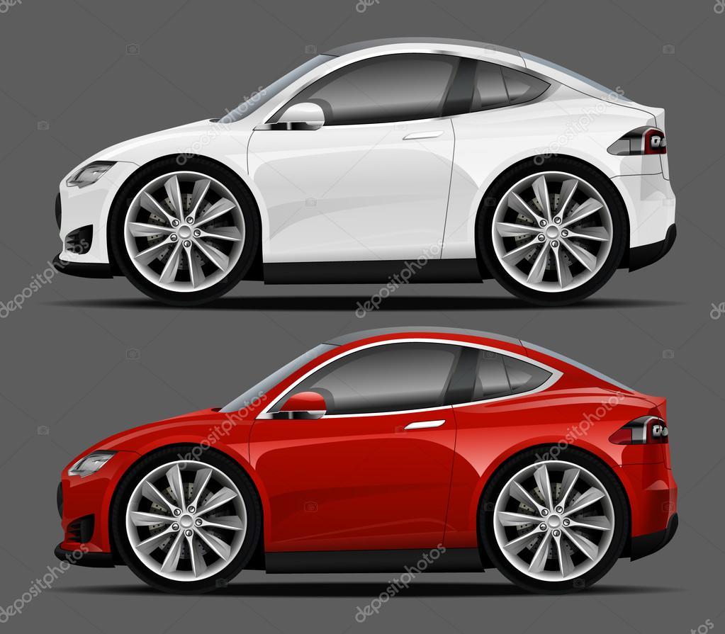 Vektorove Moderni Kreslene Auta Sportovni Auto Stock Vektor