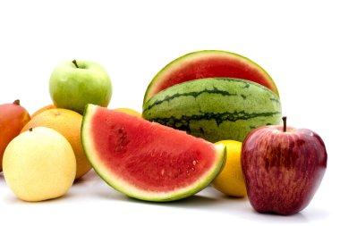 Mix fruits. Fresh fruits close up