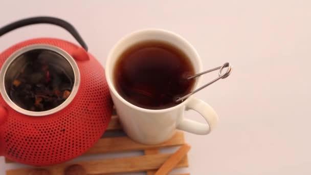 Herbal tea and teapot