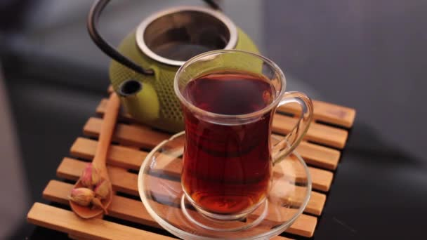 Herbal tea and teapot