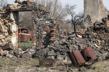 Ruin of village, Oradour-sur-Glane