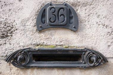 Old Art nouveau style mailbox