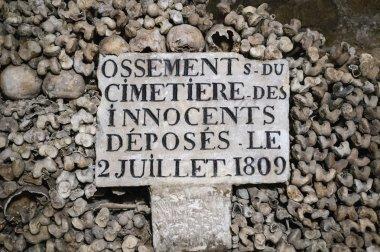 Old sign on Skulls and bones