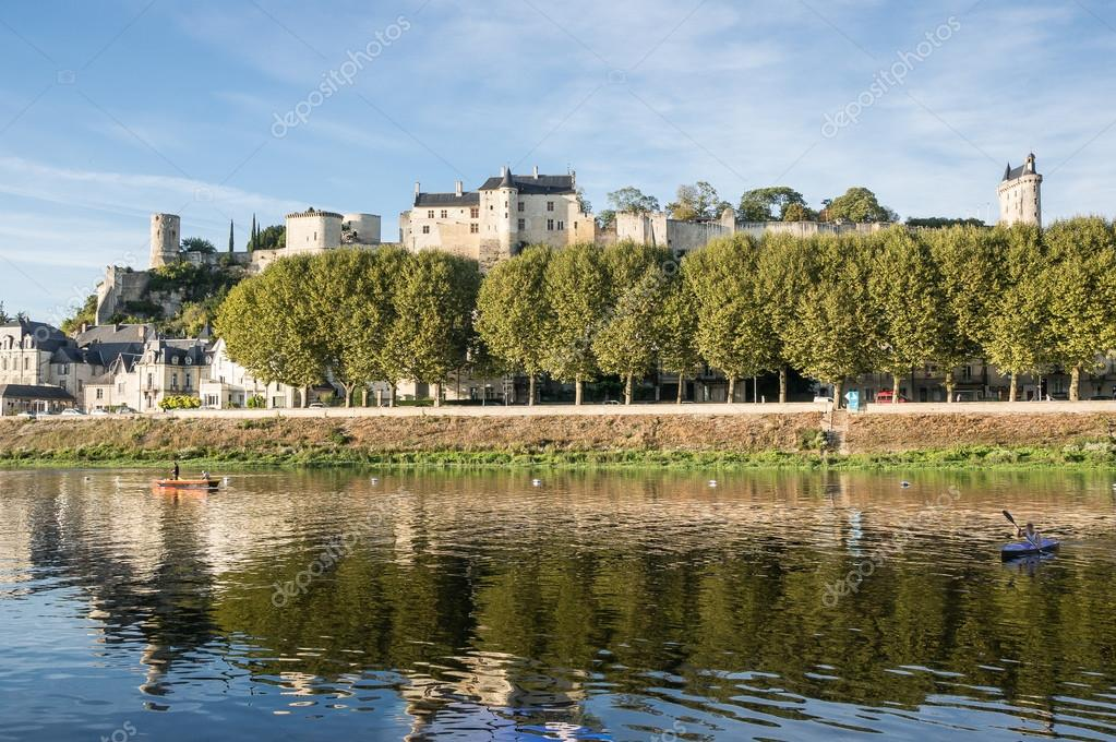 Chinon walled castle