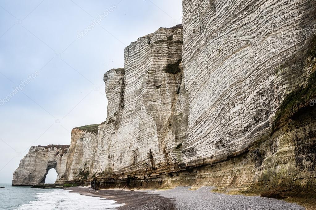 White rocks on seashore