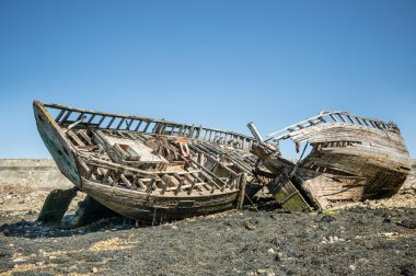 Wooden Framework of shipwrecks