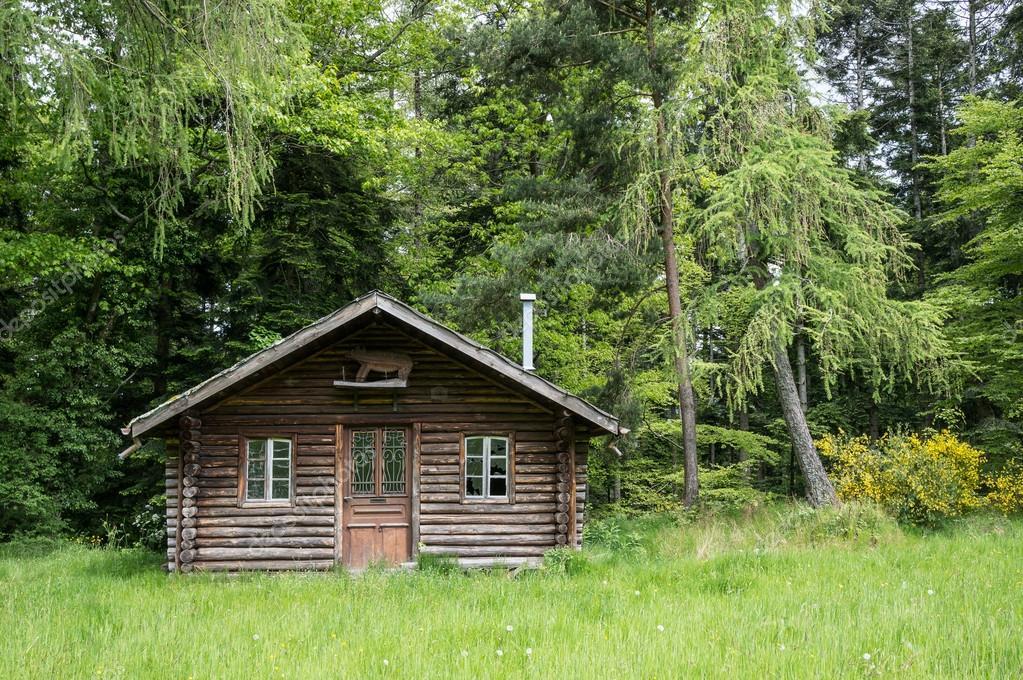 Super klein houten huis — Stockfoto © hzparisien@gmail.com #100417662 &RA97