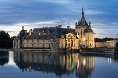 Castle of Chantilly at dusk