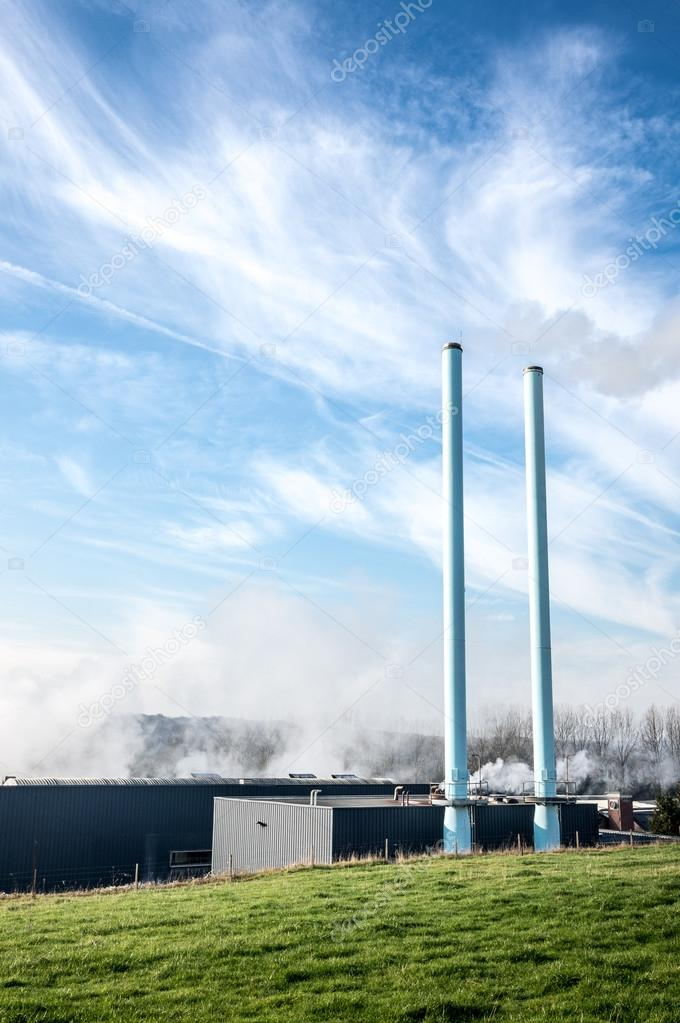 Chimneys of Factory in the North of France