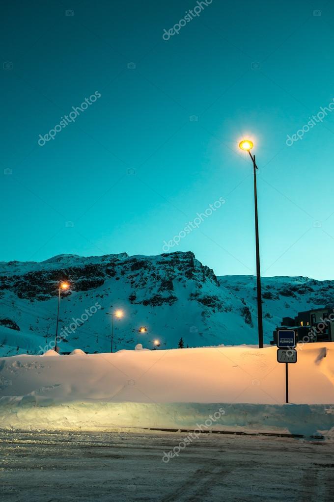 Night bus station