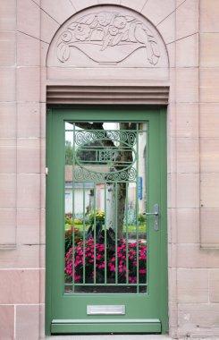 Old Green metal Door