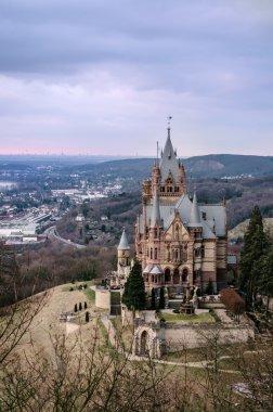 Drachenschloss castle at dusk