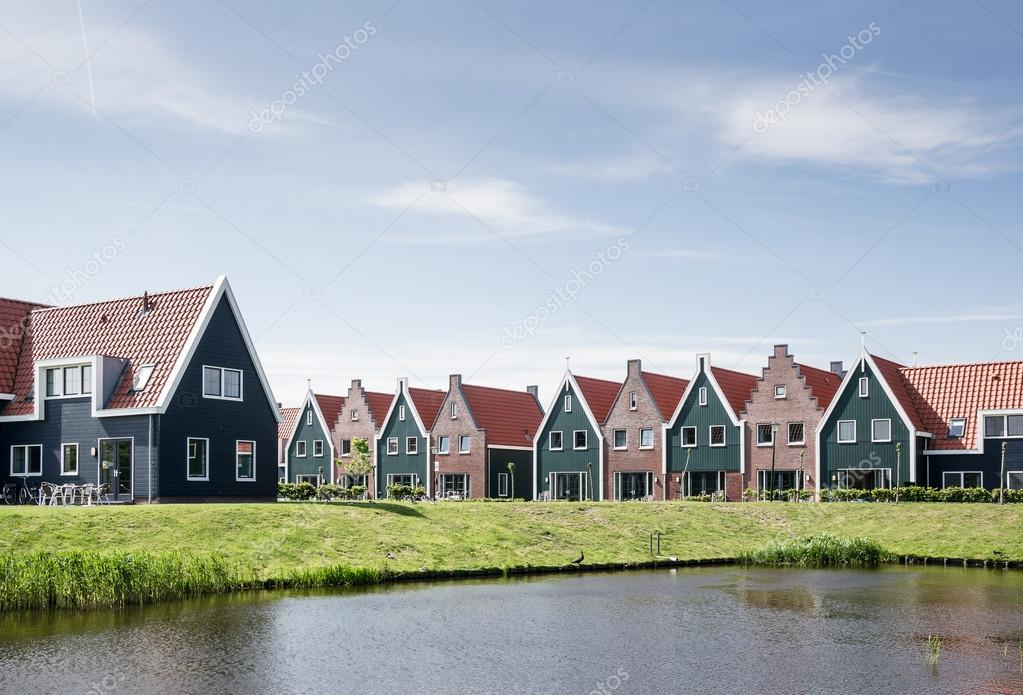 New houses in the idyllic landscape