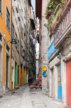 Colorful narrow alley