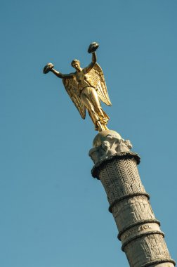 The Victory statue on the column