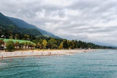 Beach on embankment of New Athos, Abkhazia