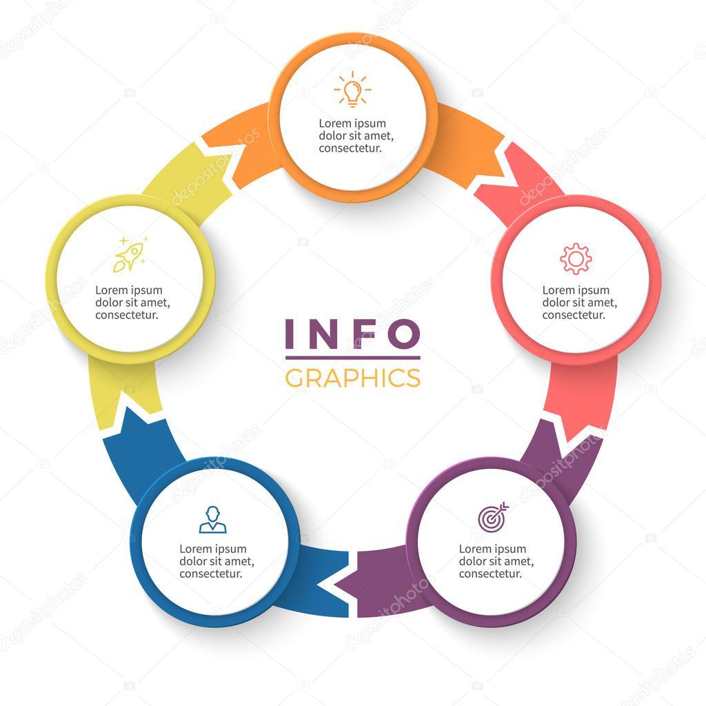 Setas circulares para infogrficos diagrama com 5 etapas opes diagrama com 5 etapas opes as peas modelo de negcio do vetor vetor de fireofheart08ail encontre imagens similares ccuart Gallery